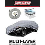 "Motor Trend M5-CC-4 Pro Series XL Car Cover (7 Defender Waterproof for All Weather-Snow, Wind, Rain & Sun-Ultra Heavy Multiple Layers-Fits Up to 210"")"