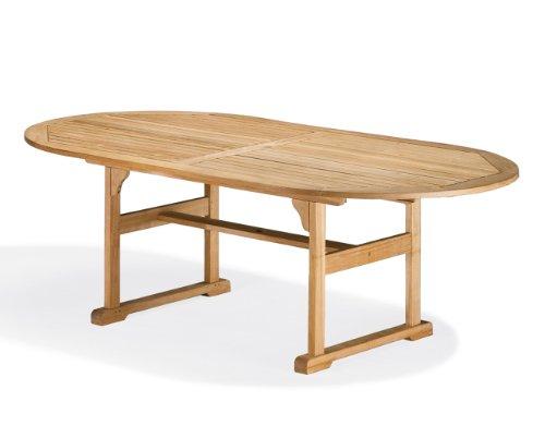 Oxford Garden Shorea Oval Dining Table, 88-Inch