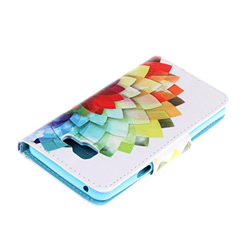 Caja de Teléfono para Samsung Galaxy A3(2016) A310 Funda LuckyW Casa Flip Folio Funda Bookstyle Funda Flexible Ligera Duradera con Función de Soporte Ranuras de Tarjeta Soporte de Identificación Cierr Flor