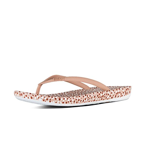 Fitflop Iqushion Ergonomic Flip Flops Colour: Nude Bubbles, Size: UK5