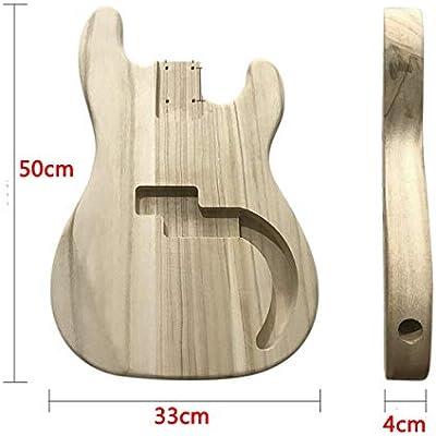 DASEXY Sin terminar de Bricolaje de Madera de Arce de la Guitarra ...