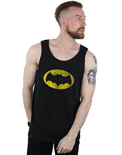 Man Top Distressed Tv Tank Dc Batman Negro Comics Logo 5wHxqf