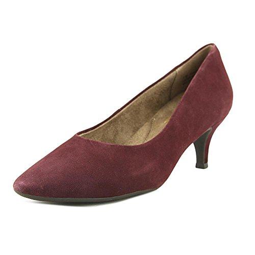 Aerosoles Stardom Women US 6.5 Burgundy Heels (Aerosoles Suede Mules)