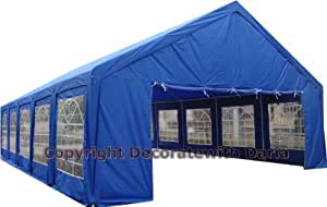 Decorate With Daria Tent Huge 20' x 40' - Party Shelter Canopy Pavillion Gazebo Outdoor Wedding Reception Family Reunion Carport Business Blue Color - 1 Year Limited Parts Warranty