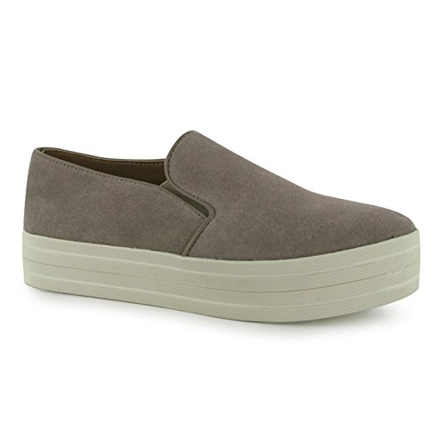 Steve Madden Buhba plate-forme Chaussures pour femme Taupe daim Baskets mode Sneakers