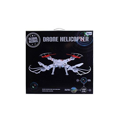 Global Gizmos 53310 50 cm 2.4 GHz Flying Drone Quad Helicopter with Camera by Global Gizmos by Global Gizmos