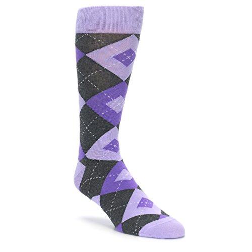 Statement Sockwear Men's Argyle Groomsmen Wedding Socks (Lilac Iris -