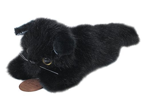 Amazon.com: Japanese-made graceful Nesoberi CAT black cat stuffed full-length 24cm I-4252: Toys & Games