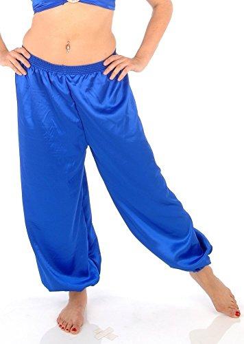 (Belly Dance Satin Harem Pants - Royal )