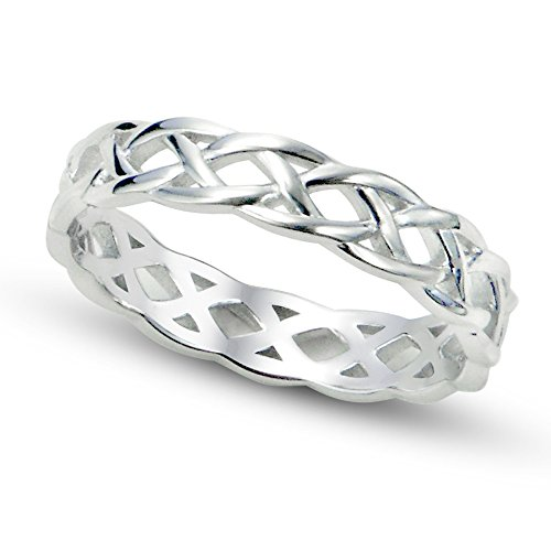 Metal Factory Sz 9 Sterling Silver 925 Celtic Knot Eternity Band Ring