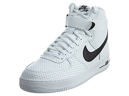 Nike Air Force 1 High White/Black-White (Big Kid) (7 M US Big (1 Kids Orange White Sneakers)