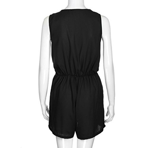 a-goo donne solido chiffon spiaggia tuta senza maniche, Summer party Short mini Playsuit Dress