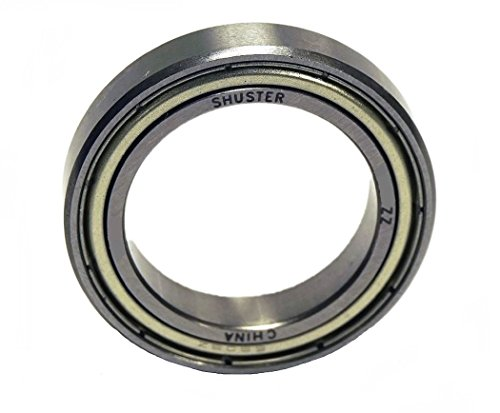 Shuster 6806 ZZ Deep Groove Ball Bearing, Single Row, Double Shielded, 42 mm Height, 7.0 mm Width, 42 mm Length, 30.0 mm ID, 42 mm OD, High Carbon Chrome Bearing Steel - Double Row Ball Bearing