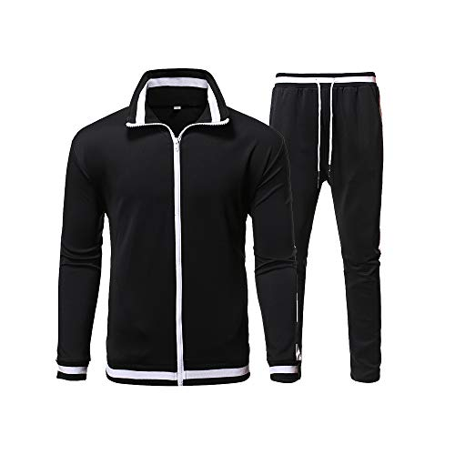 ZNU Men's Tracksuit Athletic Sports Casual Full Zip Sweatsuit Jogging Running Hoodie Jacket and Pants Set