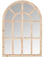 "Amazon Brand – Stone & Beam Farmhouse Wooden Arched Mantel Mirror, 36""H"