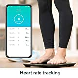 Wyze Scale, Bluetooth Body Fat Scale and Smart Body Composition Monitor, Smart BMI Scale, Heart Rate Tracking, Body Fat Percentage Tracker, Analyze with Smartphone App, Black