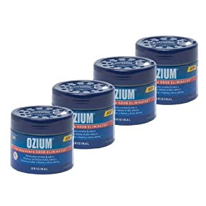 Ozium 804281-4 Smoke & Odors Eliminator Gel. Home, Office and Car Air Freshener 4.5oz (127g), Original Scent (Pack of 4)