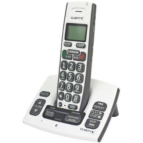 Clarity D613 Dect 6.0 Cordless Amplified Phone with Clarity Power and Call Waiting Caller ID (50613)