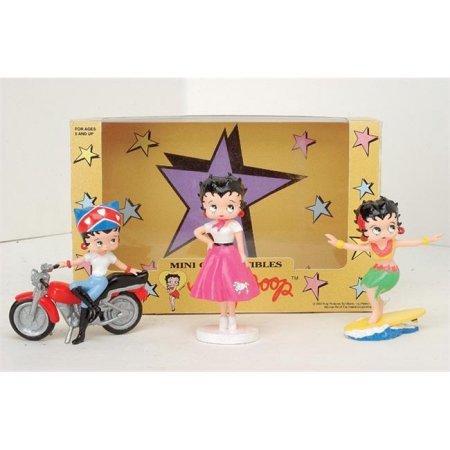 Precious Kids 31303 4 Betty Boop PVC Figurines 3 piece set