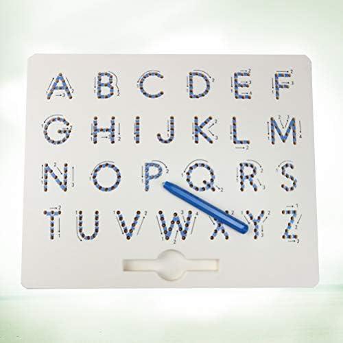 Supvox Stahlkugel magnetisches Reißbrett Alphabet sketchpad kritzelt Bildungs-Spielzeug Stahlkugel für Kinder Schreibblock