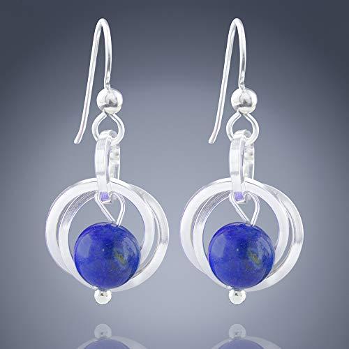 Attractive Handmade Designer Earring Natural Lapis Lazuli Earring 925 Solid Sterling Silver Earring Free Shipping Dangle Women Earring