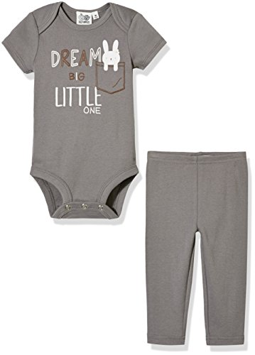 Silly Apples Baby Unisex Cotton Blend 2-Piece Short-Sleeve Bodysuit Onesies and Pant Outfit Set