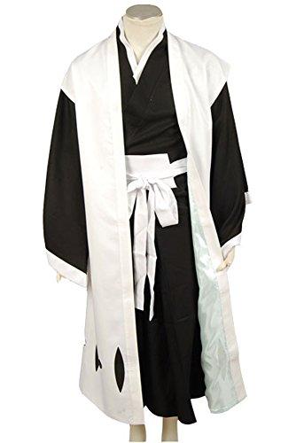 Kurosaki Ichigo Bankai Costume (Ya-cos Ichigo Kurosaki bankai form 3rd Division Captain Ichimaru Gin Cosplay Costume)