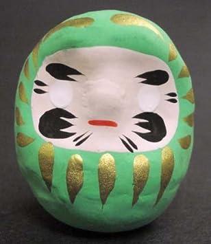 Glücksbringer Daruma aus Japan, grün - Gesundheit, Sicherheit ...