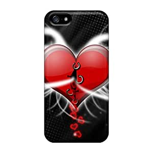 Hot Snap-on Heart Hard Cover Case/ Protective Case For Iphone 5/5s