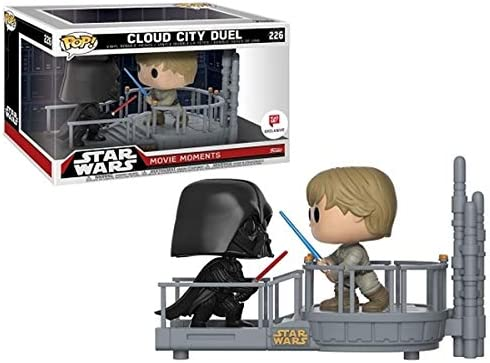 Funko Pop 21982 Star Wars Movie Moments Cloud City Duel Luke Skywalker Darth Vader Limited Exclusive 226 Amazon Co Uk Toys Games