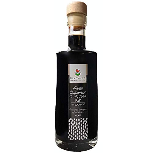 Vinegar Balsamico (Balsamic Vinegar of Modena IGP AGED - Made in Italy - EMILIA FOOD LOVE - Selected with Love in Italy - Aceto Balsamico di Modena IGP Invecchiato)