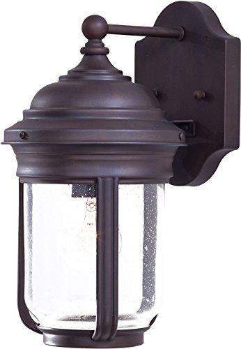 Minka Lavery Outdoor Wall Light 8810-57 Amherst Exterior Wall Lantern, 75 Watts, Bronze ()