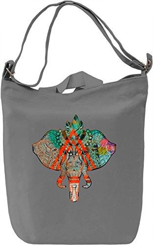 King Elephant Borsa Giornaliera Canvas Canvas Day Bag  100% Premium Cotton Canvas  DTG Printing 