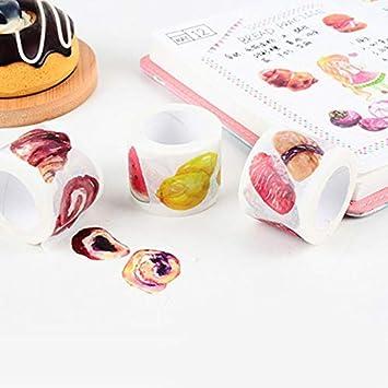 3cm*7m Hacoly Auto-Adhesivos Banda Decorativa Papel klebriger DIY Pegatinas Banda Masking Tape sint/ética para Scrapbooking Craft Scrapbooking Decoraci/ón Brot