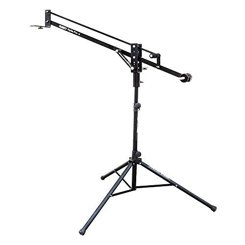 "FILMCITY Flylite 4ft/48"" Mini Jib Arm with Pan & Tilt Locks & Dual Mounting Provision + Tripod Stand & LCD Bracket| Best Travel Aluminum Crane for DSLR Video Camera up to 10kg/22lb +Bag (FLT-PRO-4-JS) by FILMCITY"