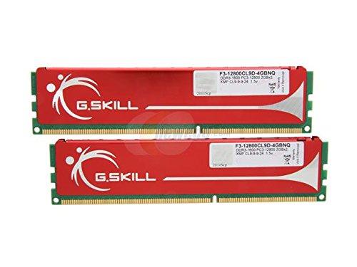 G.Skill F3-12800CL9D-4GBNQ 4GB (2 x 2GB) 240-Pin DDR3 SDRAM 9-9-9-24 1600 (PC3 12800) Dual Channel Kit Desktop (Dimm Dual Channel Kit Memory)