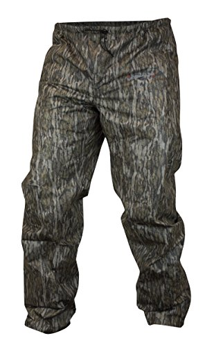 COMPASS 360 Mens AdvantageTek Camo Waterproof Rain Pants (Mossy Oak Bottomland, Small)