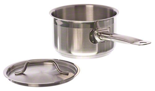 Update International (SSP-2) 2 Qt Induction Ready Stainless Steel Sauce Pan w/Cover