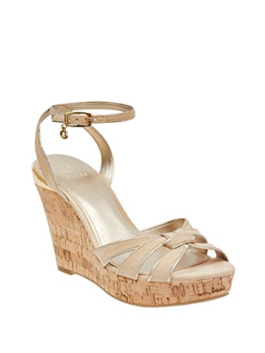Guess Ankle Strap Sandals (GUESS Women's Eleni Ankle-Strap Cork Wedges)