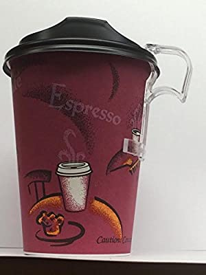 Reusable Cup Handles - Clip On Cup Plastic Handles Clips on Paper Coffee Cups, Paper Hot Cups Clips All Sizes cups -Paper Cups - Perfectouch cups -plastic cups - 30 pack
