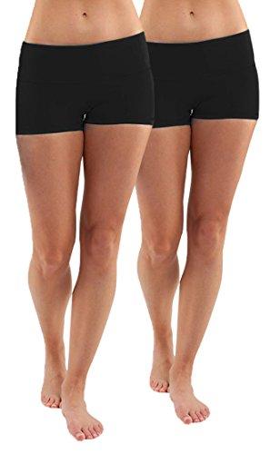 iloveSIA® Damen Shorts Kurze Sporthose Nahtlose Tanzshorts Fitness Yoga Hotpants Boxershorts aus Baumwolle