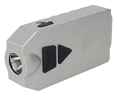 Mecarmy SGN7 USB Rechargeable Personal attack Alarm and Multifunctional Flashlight (Silver)