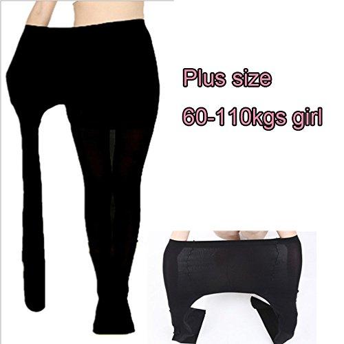 2PCS 120D opaque spring autumn winter women female pantyhose plus size XXXL-large control top tights