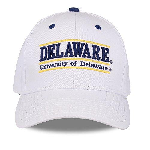 The Game NCAA Delaware Fightin' Blue Hens Unisex NCAA bar Design Hat, White, (Bar Adjustable Hat)