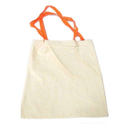 'Messages' beige 5 Trésors orange friday it's bag 42x36 Sac Smile coton cm Tote De Lily P9491 Les Rz18Z1
