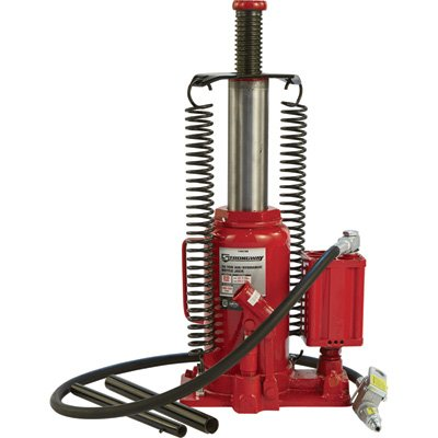 Strongway Air/Hydraulic Bottle Jack - 20-Ton Capacity, 10 7/16in.-20 1/16in. Lift Range - 20 Ton Air