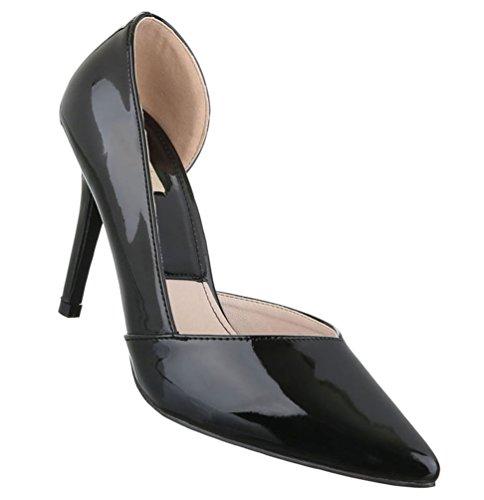 Damen Schuhe Sandaletten Pantoletten Pumps Mules Dunkelbraun 40 ZJ072l8