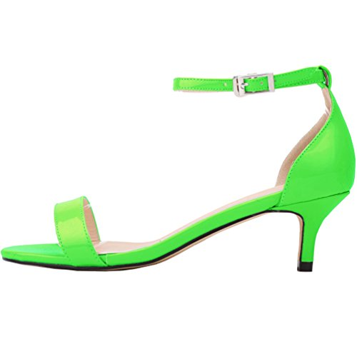 Tacchetto Donna Semplice Heel WanYang a Scarpe a Spillo Punta Col Scarpe Shoes a Verde Tacco Kitten punta Scarpe HIHBnqZwd