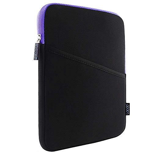 Lacdo Shockproof Tablet Sleeve Case for 11 inch New iPad Pro 2018 | iPad Pro 10.5 inch | 9.7 inch New iPad | iPad Air 2 | Samsung Galaxy Tab 10.1 Protective Bag, fit Apple Smart Keyboard Purple/Black