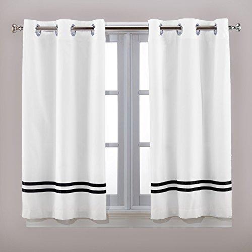 Hookless Tuxedo Window Panel Special Size Shower Curtain